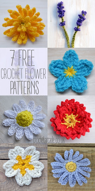 Free Crochet Pattern A Day : Free Crochet Flower Pattern a day challenge! ? Crochet Arcade