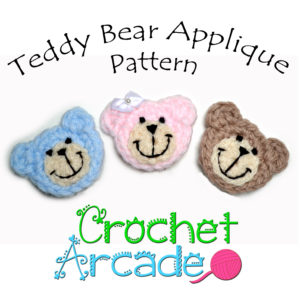 Teddy bear applique pattern