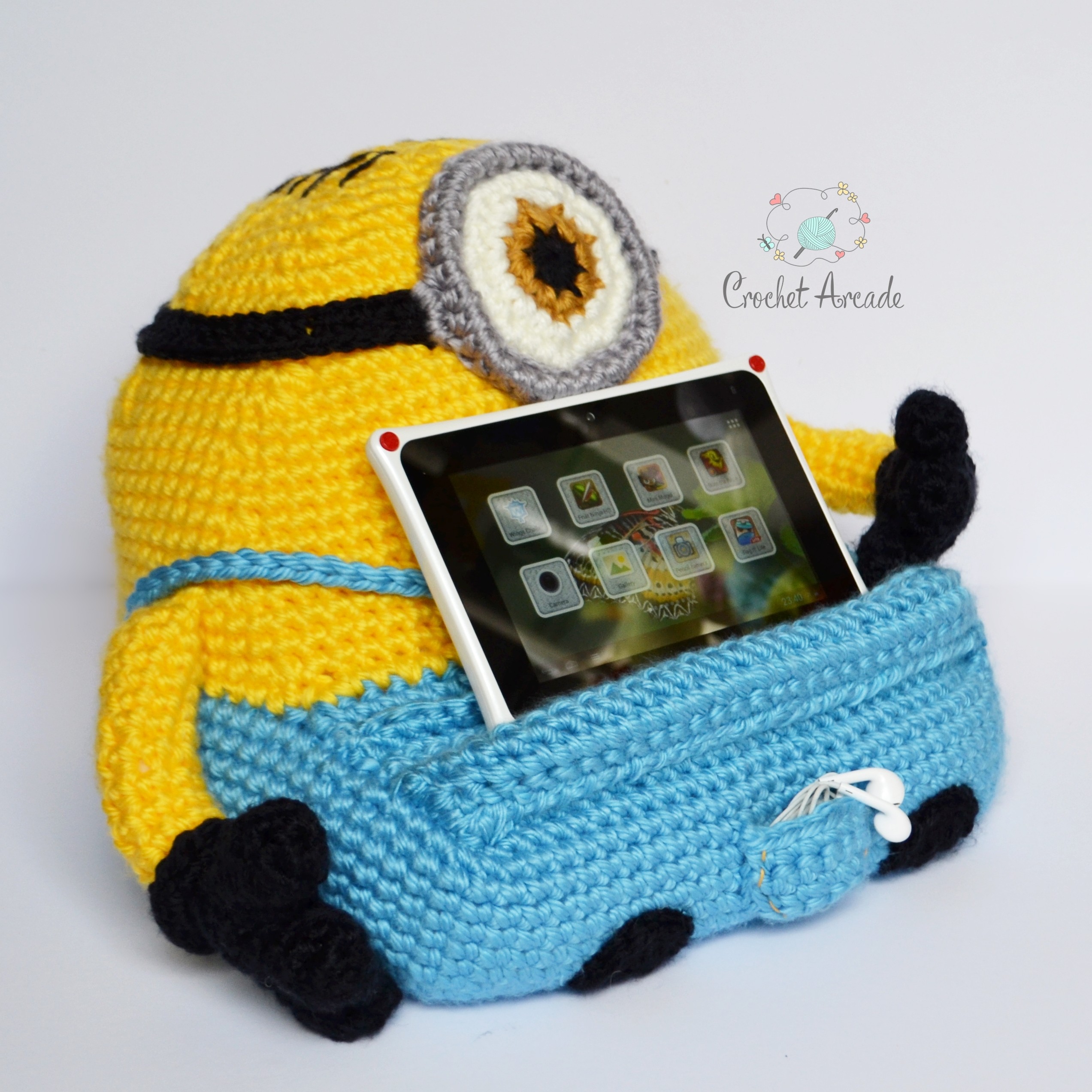 Book Cover Crochet Uk : Stuart book tablet holder crochet pattern arcade