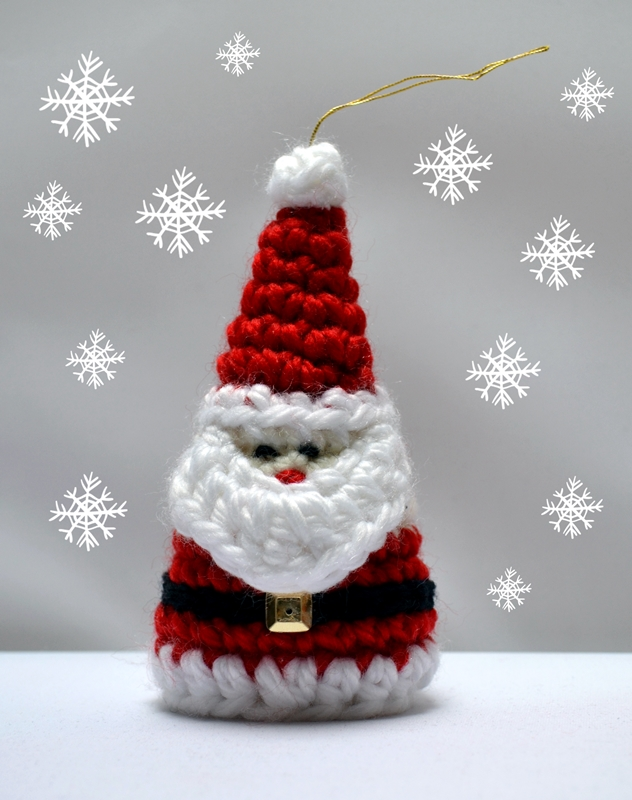Crochet Santa Christmas Ornament Pattern Crochet Arcade