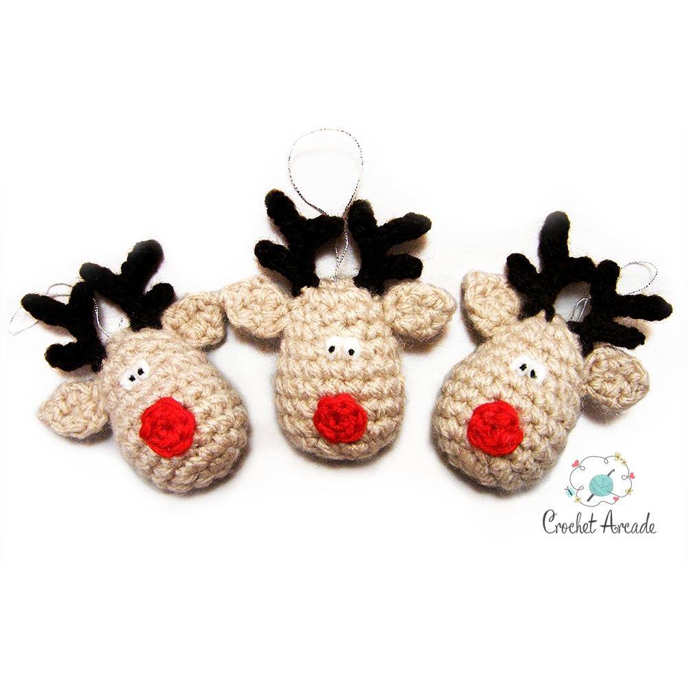 Amigurumi Christmas Reindeer Free Crochet Pattern | 1000x1000