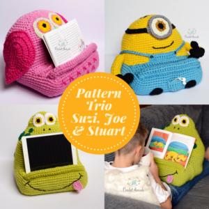 Pattern trio Owl Frog Minion