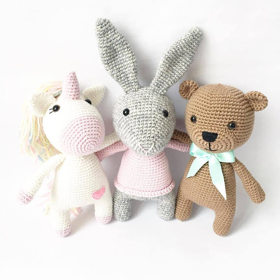 Crochet Teddy bear Amigurumi Bear Grey crochet bear Christmas gift ... | 571x570
