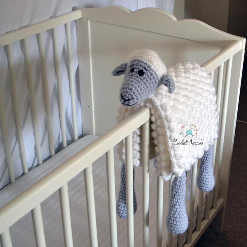 Gray lambs babytoddler blanket