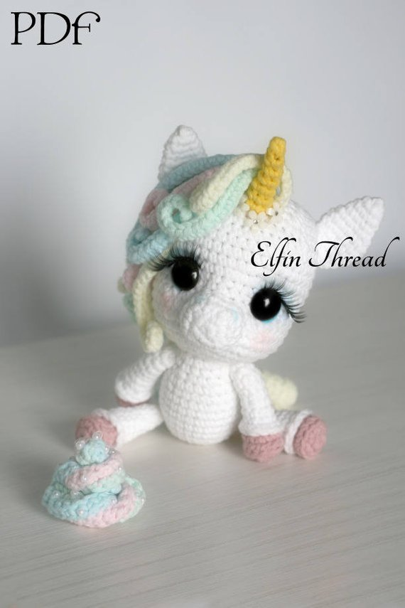 Baby unicorn amigurumi pattern - Amigurumi Today | 855x570