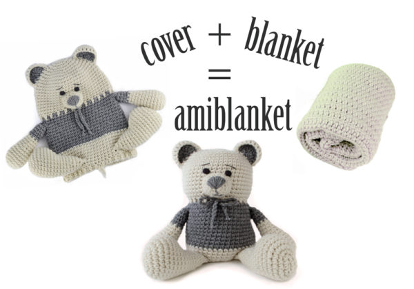 Teddy bear crochet baby blanket infographic