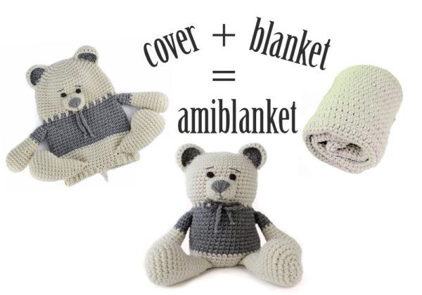 Teddy bear crochet baby blanket infographic