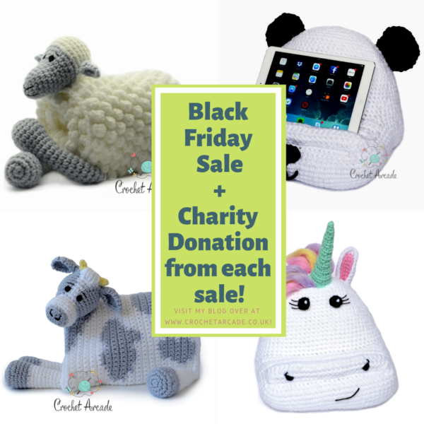 Black Friday sale crochet patterns and charity collection