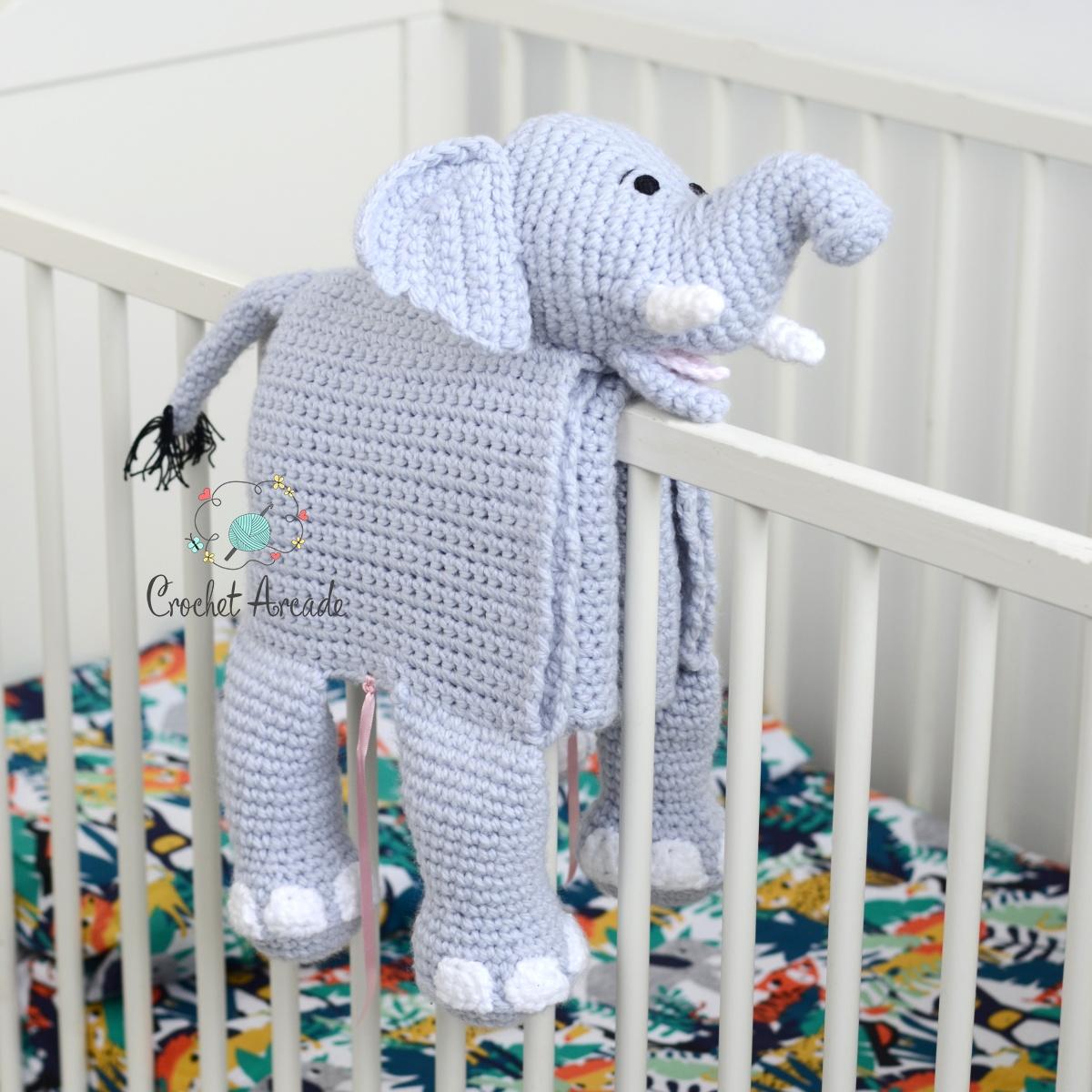 Cuddle And Play Elephant Baby Blanket Crochet Pattern Crochet Arcade
