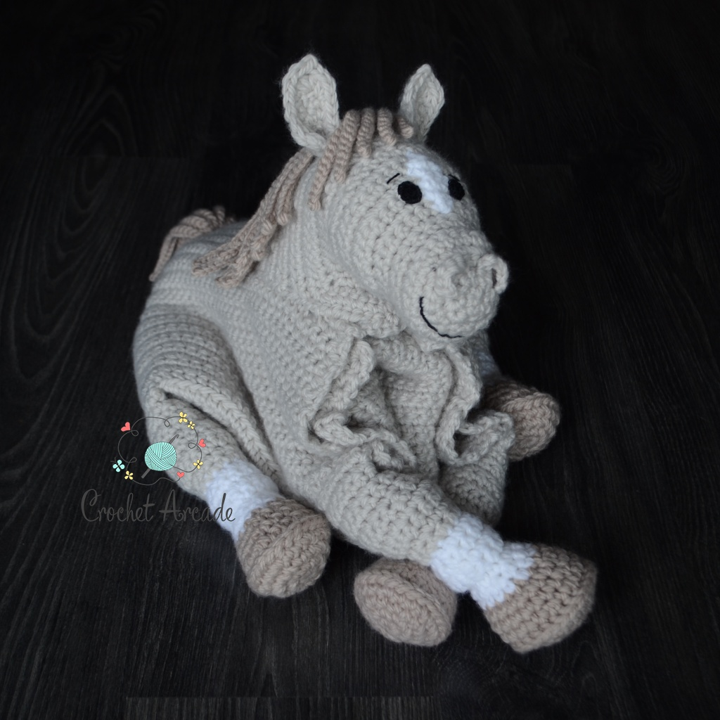 Cuddle And Play Horse Unicorn Baby Blanket Crochet Pattern Crochet Arcade